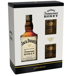 Jack Daniels Honey + 2 poháre 35% 0,7L
